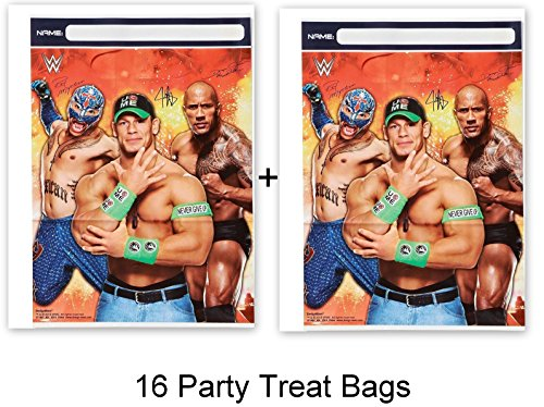 WWE Wrestling Bash Cena Party Loots Treat Bags Birthday Party Supplies (16-Pieces) by HALL