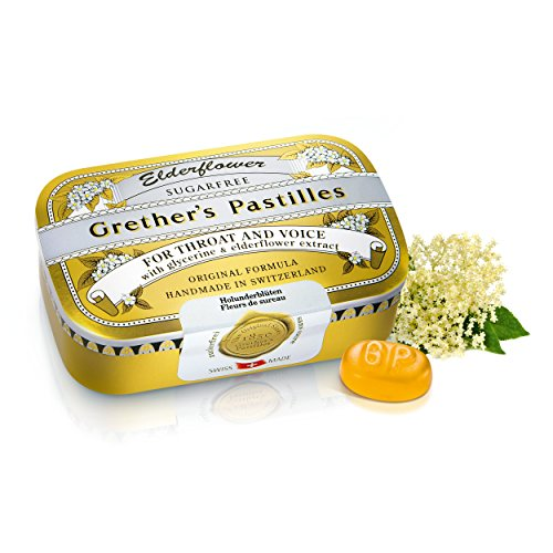 GRETHER'S Pastilles ELDERFLOWER Sugar Free 110G/3.75OZ