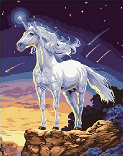 PaintingStudio White Horse DIY Painting by number kit for sale  Delivered anywhere in Canada
