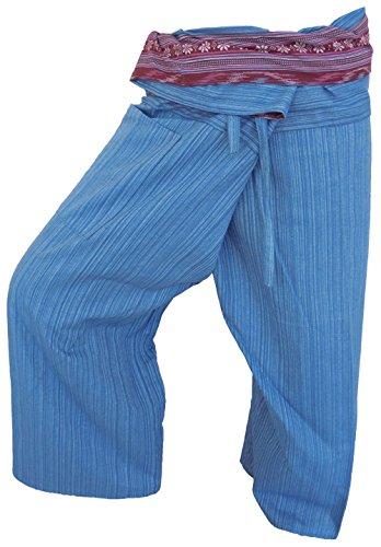 Pêcheur Bleu Yoga By Sport 16 Pantalon Fisherpant Soljo Fisherman De Asie Couleurs Wrap Thaïlande Coton A6Iqw
