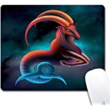 Computer Goat Rectangle Mouse Pad (9.4x7.8 Inch), Printed Rubber Desk Accessories Mouse Mat