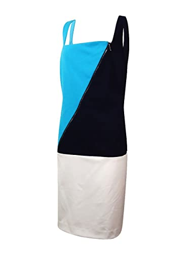 Lauren Ralph Lauren Women's Sheath Dress Colorblock Blue