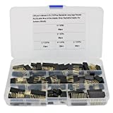 110 Pcs 2.54mm Arduino Stackable Shield Header Assortment Kit (Double Row 3-Pins and 6 / 8 / 10 Pins)