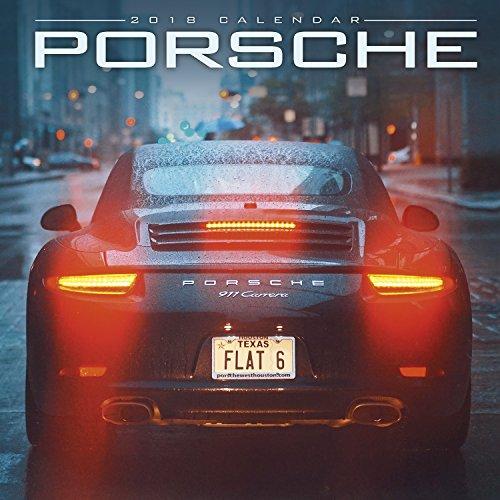 Porsche Calendar - Calendars 2017 - 2018 Calendar - Super Car Calendar - Automobile Calendar - Monthly Wall Calendar