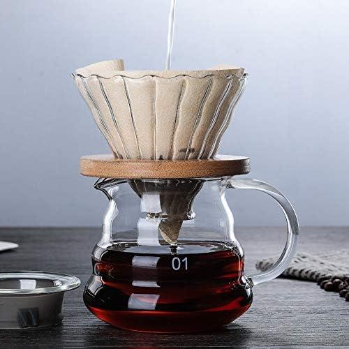 JIUYUE Cafetera Francesa Filtrar 600 ml / 350ML de Madera Soportes ...