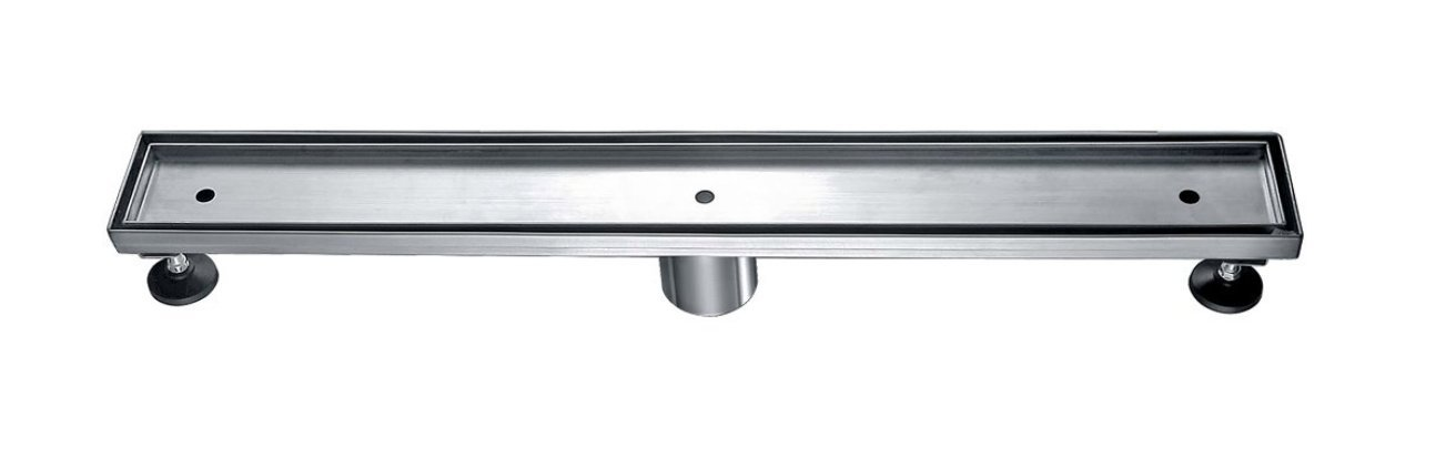 36'' Pacific Linear Shower Drain with Tile or Slab insert. Complete with Drain Assembly. UPC approved