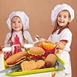 U DREAM Pretend Play Food Set , Removable Food Toys Burger Combo and Assortment