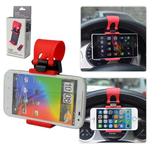 First2savvv universal Steering Wheel in Car Mount Clip Holder For LG Viewty Snap GM360