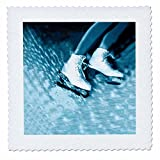 3dRose qs_1014_2 Figure Skating, Skates-Quilt Square, 6 by 6-Inch