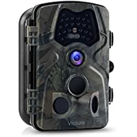 Victure Trail Game Camera 1080P 12MP Wildlife Hunting Camera with 120 ° Wide Angle, 20m Night Vision Infrared, IP66 Waterproof Design, 2.4 LCD Display for Wildlife Surveillance and Home Security