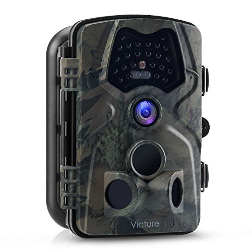 Victure Trail Game Camera 1080P 12MP Wildlife Hunting Camera with 120  Wide Angle 20m Night Vision Infrared IP66 Waterproof Design 2.4 LCD Display for Wildlife Surveillance and Home Security