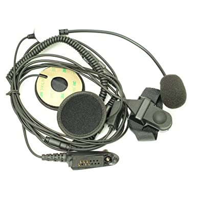 Media Cara Casco Moto Auricular Con Micrófono PTT Para Multi-PIN Motorola Radio Walkie Talkie