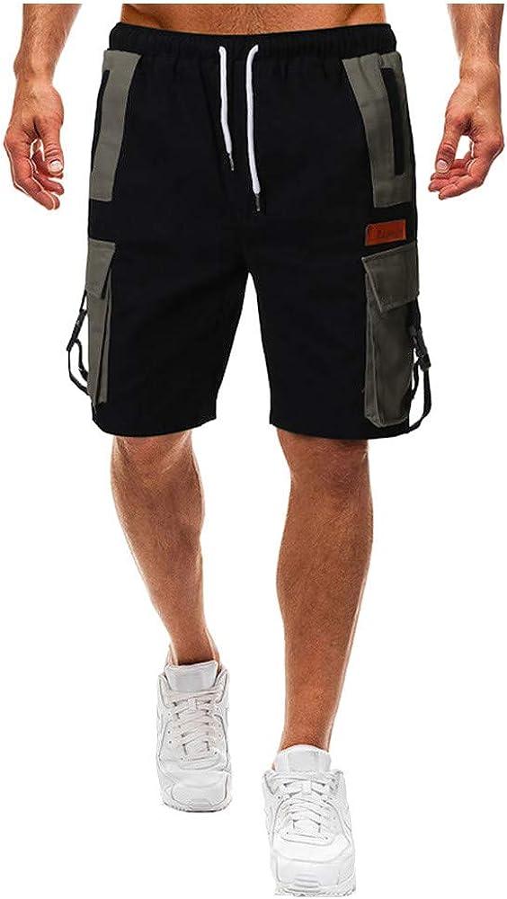 MXJEEIO💖Hombres Pantalones Cortos Deportivos de algodón Bermuda ...