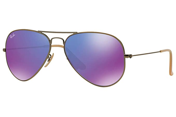 Ray-Ban Gafas de sol espejo morado Aviators RB 3025 167/1 M ...
