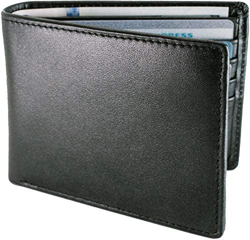 STAY FINE Mens RFID Trifold Wallet | Leather Wallets For Men RFID Blocking | Genuine Leather | Extra Capacity Mens Wallet (Black) at Amazon Men's Clothing store
