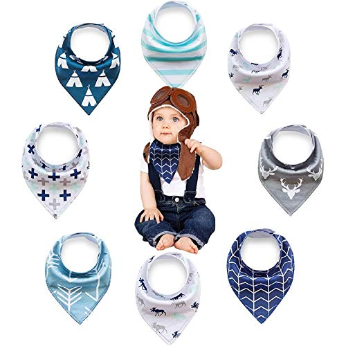 Baby Bandana Drool Bibs for Boys- 100% Organic Cotton - Soft and Super Absorbent for Drooling and Teething