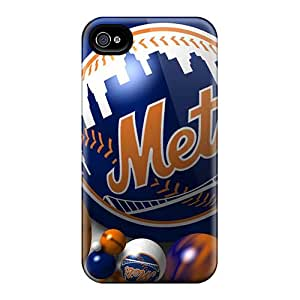 Premium Hrz4516uMJf Case With Scratch-resistant/ New York Mets Case Cover For Iphone 4/4s