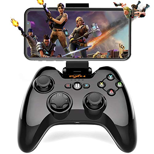 5c Clamp - Wireless Gamepad Controller, Megadream iOS MFi Gaming Joystick with Clamp Holder for iPhone Xs, XR X, 8 Plus, 8, 7 Plus, 7 6S 6 5S 5, iPad, iPad Pro Air Mini, Apple TV - Direct Play