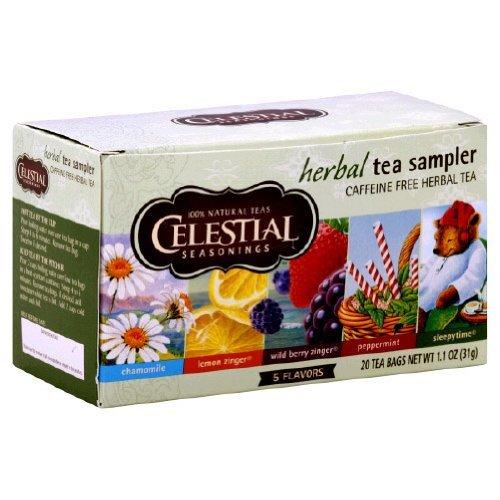 Celestial Seasonings Herbal Tea Sampler with 5 Flavors 18 ea ( Pack of 2)