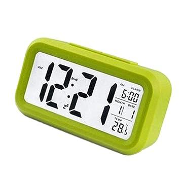 Yangge Yujum Alarma eléctrica de Escritorio Reloj electrónico Gran Pantalla LED Digital Reloj de Tiempo de Datos del Escritorio del Calendario del Reloj: ...