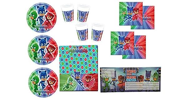 Decorata Party Juego de Fiesta de cumpleaños de PJ Masks ...
