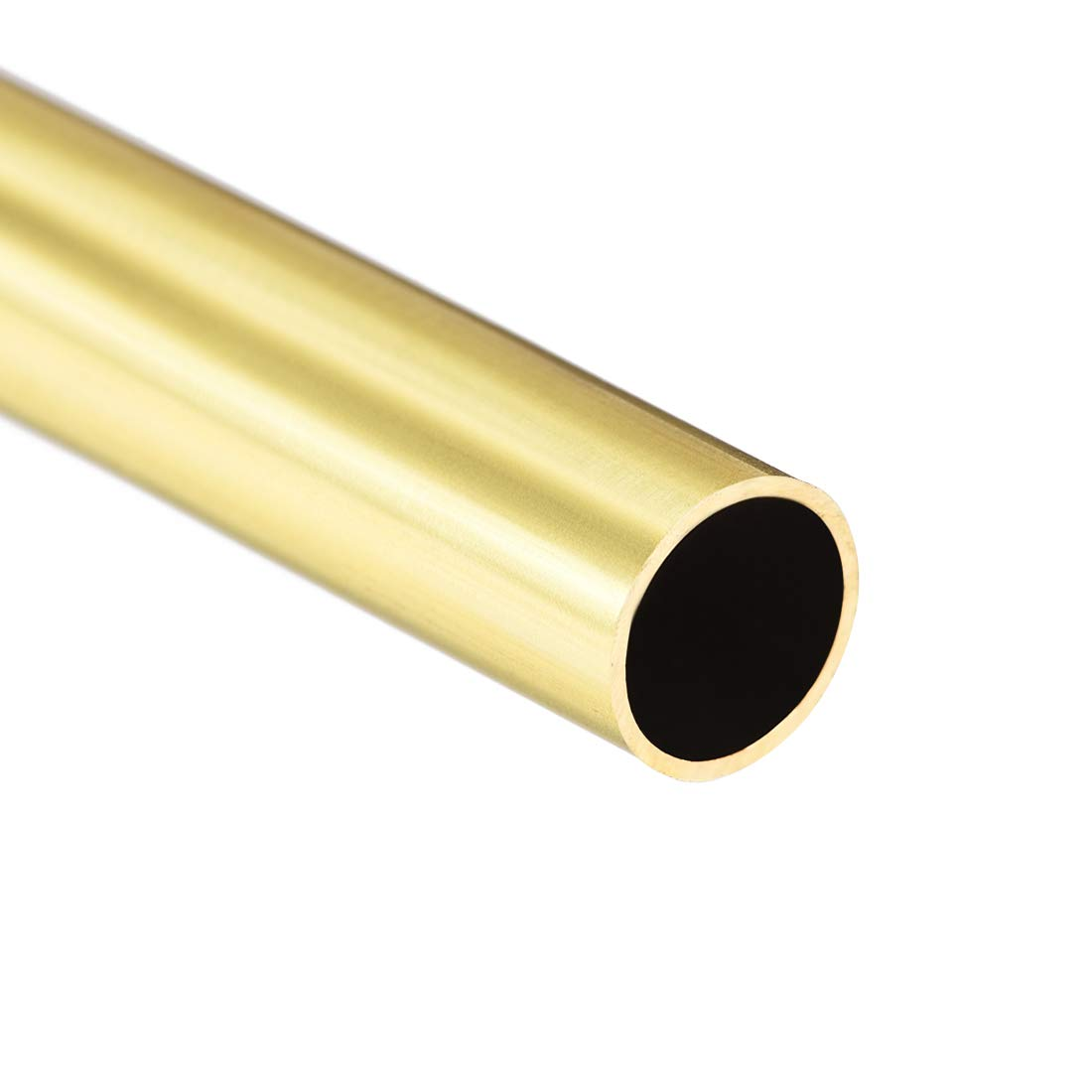 uxcell Brass Round Tube 300mm Length 8mm OD 0.5mm Wall Thickness Seamless Straight Pipe Tubing 2 Pcs