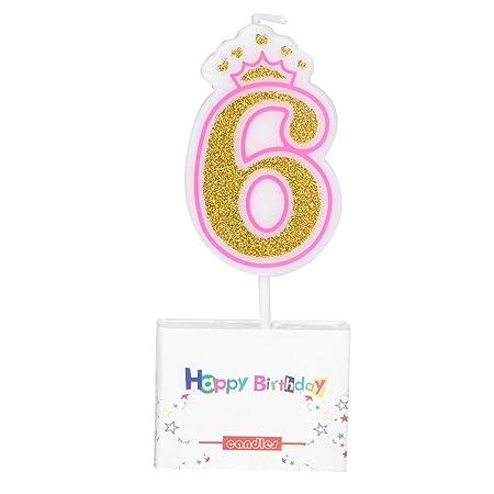 Ponacat números de Velas de cumpleaños Pastel Velas Edad 0-8 ...