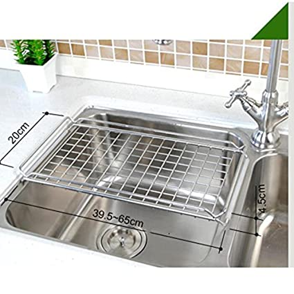 Admirable Amazon Com Sink Dish Drying Rack Flat Retractable Drain Best Image Libraries Thycampuscom