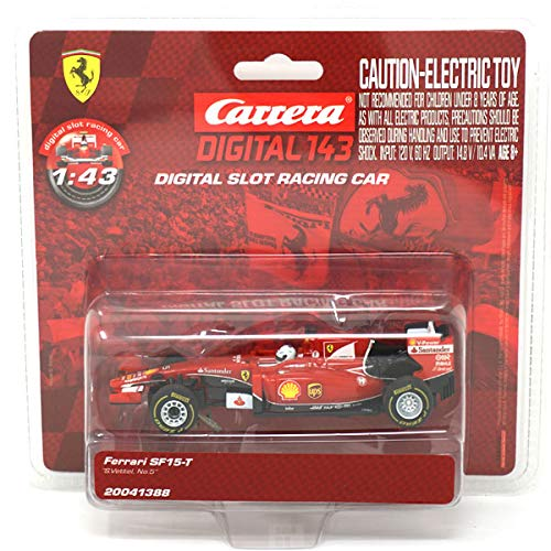 Slot Car Brands - Carrera Ferrari SF15-T S.Vettel No.5 1/43 Slot Car