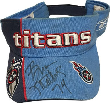 RDB Holdings & Consulting CTBL-020609 Bruce Matthews Signed Tennessee Titans Visor & Cap from RDB Holdings & Consulting