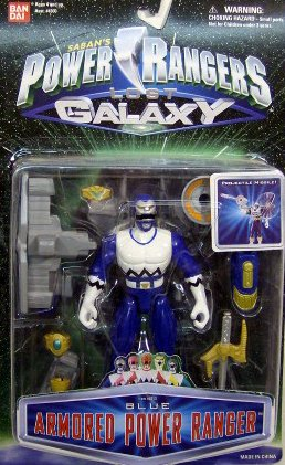 Galaxy Power Rangers (Power Rangers Lost Galaxy Blue Armored Ranger Action Figure MOSC MOC NEW Bandai 1998)