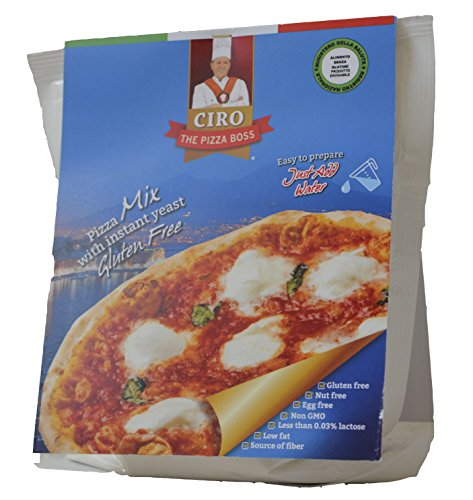 CIRO THE PIZZA BOSS - Pizza Mix with instant yeast Gluten Free 212 g (3-Pack)
