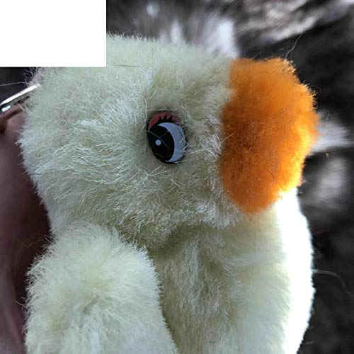 Magicfur -Real Shearling Sheep Fur Small Yellow Duck Charm Bag Backpack Pendant Car Keychain Kids Doll - Duck Shearling