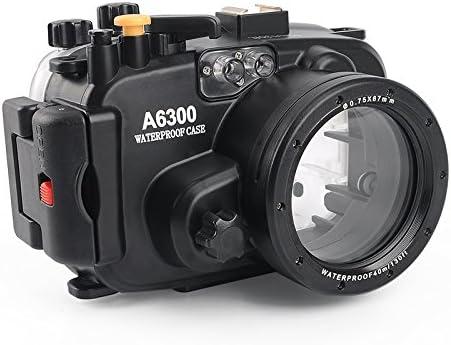 Meikon 40m 130ft Carcasa para Sony A6300 de buceo impermeable cámara de 16: Amazon.es: Electrónica