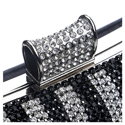 Bag Strap Chain Luxury Shoulder Nightclub Bag Black Evening Clutch Banquet Long Gorgeous Ladies Evening Diamond Luxury Bag With Bride 1Z7gq1