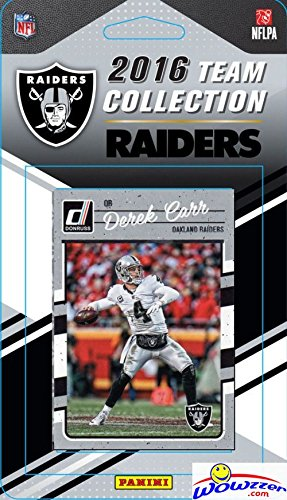 Oakland Raiders 2016 Donruss NFL Football Factory Sealed Limited Edition 14 Card Complete Team Set with Derek Carr, Amari Cooper, Khalil Mack, Legend BO JACKSON & Many More! Shipped in Bubble Mailer!