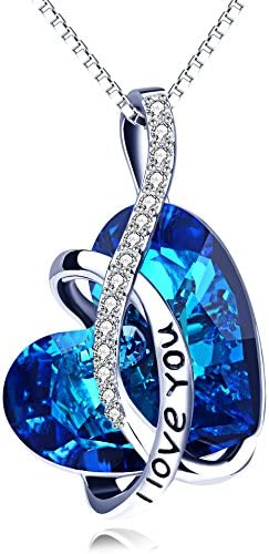 AOBOCO Necklace Sterling Engraved Swarovski product image