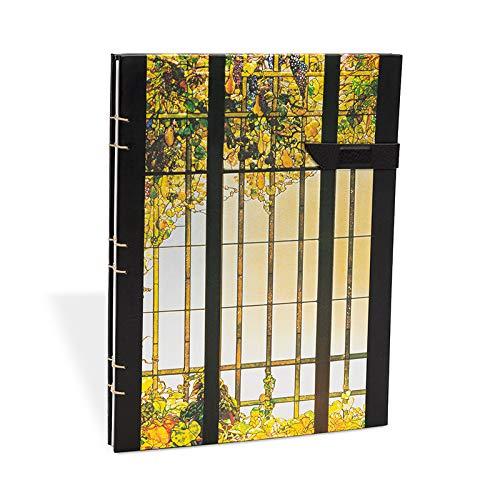 Paperblanks   Tiffany Farbglas Weinrebe   Notizbuch Groß Kopertenheftung Liniert