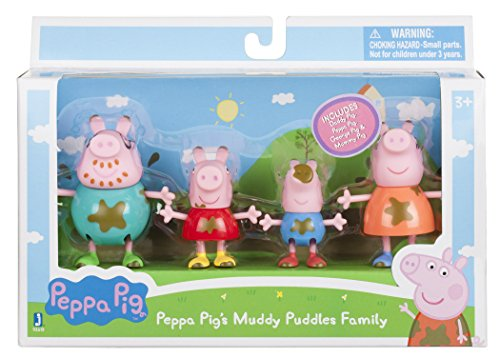 Peppa Pig - Muddy Puddles Family 4 Pack