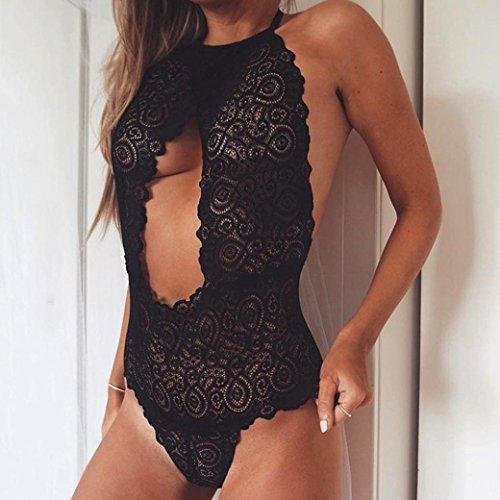 Longra ♥Las mujeres ahuecan hacia fuera el cordón que cuelga la ropa interior del cuello