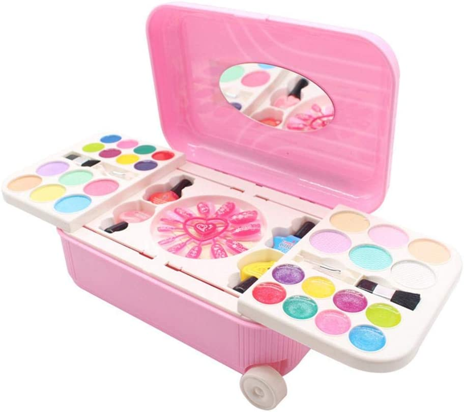 ckground niña Princesa Jugar Juguetes Niños Cosméticos solubles en Agua Set Peelable Esmalte de uñas Maquillaje Juguetes un Buen Regalo y Divertidos Juguetes adecuados para Edades de 5 y más