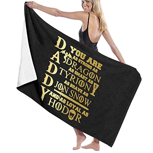 (VIMMUCIR Daddy Game of Thrones Print Design Microfiber Beach Towel)