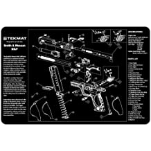 TekMat Smith & Wesson M&P Cleaning Mat / 11 x 17 Thick, Durable, Waterproof / Handgun Cleaning Mat with Parts Diagram and Instructions / Armorers Bench Mat / Black