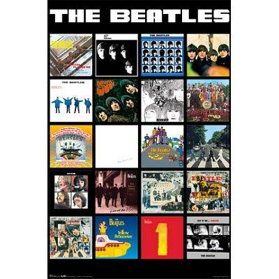 The Beatles Album Covers Unframed Music Poster Print