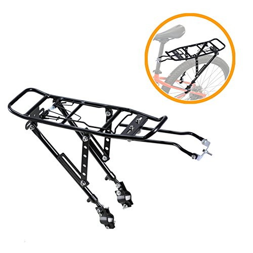 Voilamart Bicycle Rear Touring Carrier Rack, Adjustable Aluminum Alloy Frame-Mounted with 132 lb Max Capacity for Heavy Bike Luggage (Bike Luggage Racks)