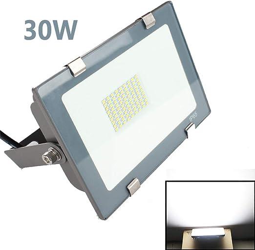 dami Foco LED Proyector, 30W, Lámpara Proyector LED Impermeable, Iluminacion Exterior del Jardín al Aire Libre, Luz Blanca: Amazon.es: Hogar