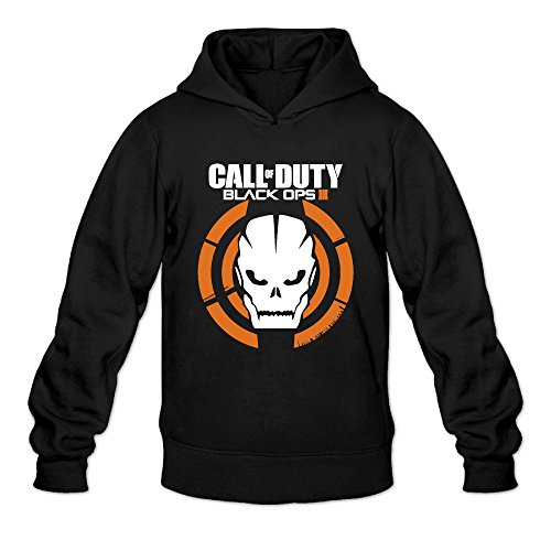 DVPHQ Men's Best Call Logo Duty Black Ops Hoodies Size S Black
