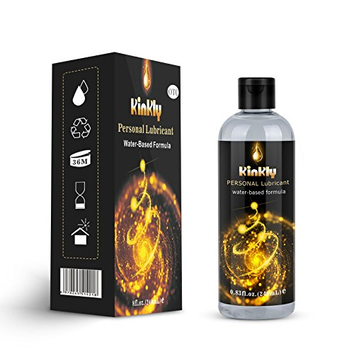 Water Based Personal Lube- KINLY Edible Massage Lubricant- Intimate Lubricants for Men,Women or Couples(8 Fl Oz Bottle)