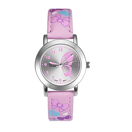 Relojes Niñas, Relojes Infantiles Reloj de Cuarzo Niñas Estudiantes Niñas Reloj de Cuarzo Lindo Colorido