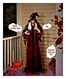 Halloween Hanging Witch Prop Talking Animated 6 feet Scary Decoration -26''W x 14''D x 71''H